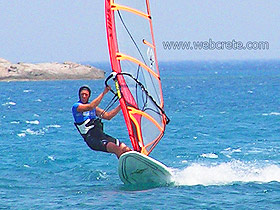 Windsurfing in Kouremenos Beach